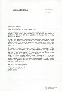 JACK SMITH - TYPED LETTER SIGNED
