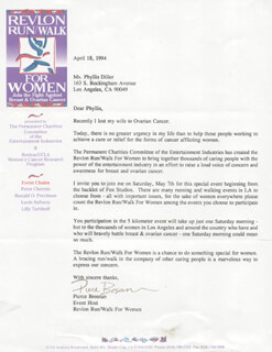 PIERCE BROSNAN - TYPED LETTER SIGNED 04/18/1994