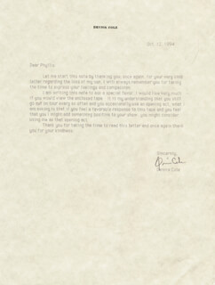 DENNIS COLE - TYPED LETTER SIGNED 10/12/1994