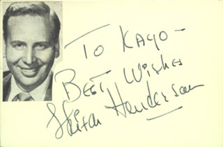 SKITCH HENDERSON - INSCRIBED SIGNATURE