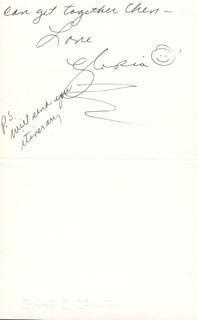 GLORIA (MRS. DONALD) O'CONNOR - AUTOGRAPH LETTER SIGNED