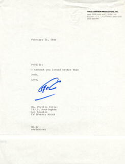 GREG GARRISON - TYPED LETTER SIGNED 02/20/1984