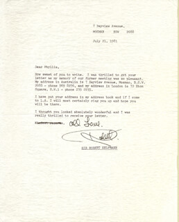 ROBERT HELPMANN - TYPED LETTER SIGNED 07/21/1981