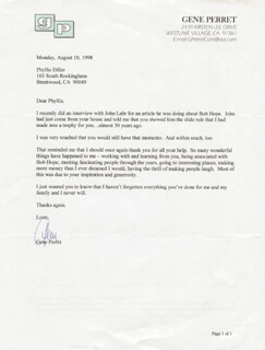 GENE PERRET - TYPED LETTER SIGNED 08/10/1998