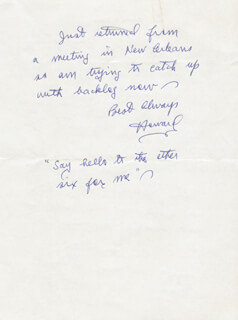 HOWARD P. HOUSE - AUTOGRAPH LETTER SIGNED