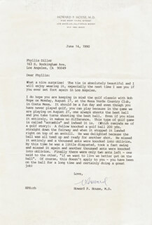 HOWARD P. HOUSE - TYPED LETTER SIGNED 06/14/1990
