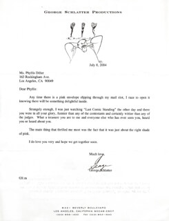GEORGE SCHLATTER - TYPED LETTER SIGNED 07/08/2004