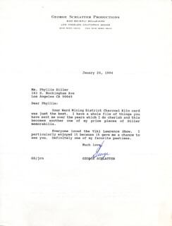 GEORGE SCHLATTER - TYPED LETTER SIGNED 01/26/1994