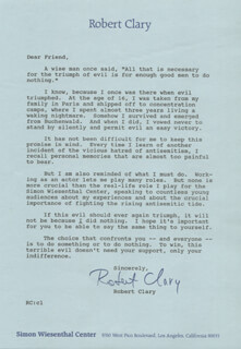 ROBERT CLARY - TYPED LETTER SIGNED