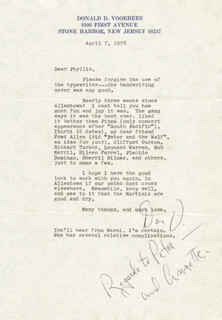 DONALD VOORHEES - TYPED LETTER SIGNED 04/07/1978