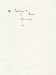 MURRAY MATHESON - AUTOGRAPH LETTER SIGNED 03/16/1979