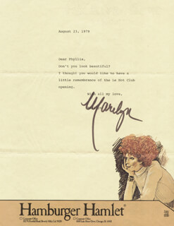 MARILYN LEWIS - TYPED LETTER SIGNED 08/23/1979