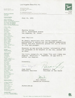 JANE WYATT - TYPED LETTER SIGNED 07/12/1993