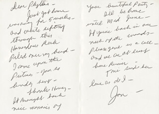 JAN MURRAY - AUTOGRAPH LETTER SIGNED CIRCA 1981