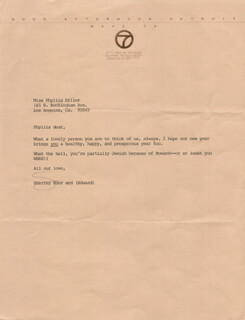 SHIRLEY EDER - TYPED LETTER SIGNED