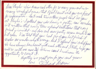 RICHARD DEACON - AUTOGRAPH LETTER SIGNED CIRCA 1/1984