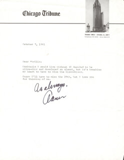Autographs: AAMER MADHANI - TYPED LETTER SIGNED 10/07/1981