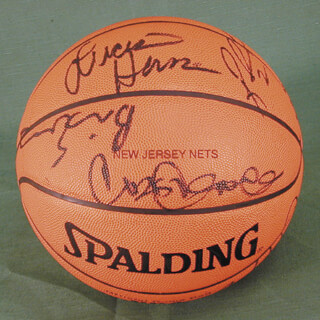 NEW JERSEY NETS - BASKETBALL SIGNED CO-SIGNED BY: KERRY KITTLES, LUCIOUS HARRIS, DAVID VAUGHN, BRIAN EVANS, CHRIS GATLING, JAYSON WILLIAMS, KEITH VAN HORNE, KENDALL GILL