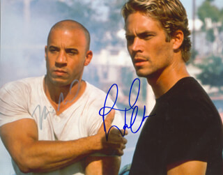 THE FAST AND FURIOUS MOVIE CAST - AUTOGRAPHED SIGNED PHOTOGRAPH CO-SIGNED BY: VIN DIESEL, PAUL WALKER