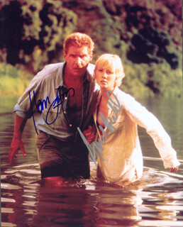 SIX DAYS, SEVEN NIGHTS MOVIE CAST - AUTOGRAPHED SIGNED PHOTOGRAPH CO-SIGNED BY: HARRISON FORD, ANNE HECHE