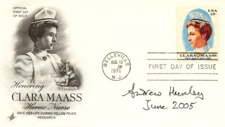 Autographs: ANDREW HUXLEY - FIRST DAY COVER SIGNED 6/2005