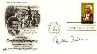 Autographs: MILTON FRIEDMAN - FIRST DAY COVER SIGNED