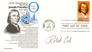 ROBERT F. CURL JR. - FIRST DAY COVER SIGNED