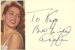 ABBE LANE - AUTOGRAPH NOTE SIGNED