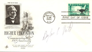 DOUGLASS C. NORTH - FIRST DAY COVER SIGNED
