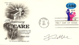 JOSEPH ROTBLAT - FIRST DAY COVER SIGNED