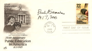 PAUL A. SAMUELSON - FIRST DAY COVER SIGNED 2005