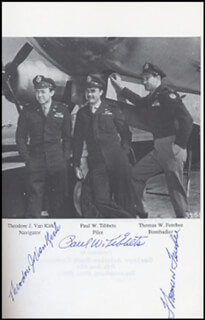 ENOLA GAY CREW - BOOK SIGNED CIRCA 1989 CO-SIGNED BY: ENOLA GAY CREW (THEODORE VAN KIRK), ENOLA GAY CREW (PAUL W. TIBBETS), ENOLA GAY CREW (COLONEL THOMAS W. FEREBEE)