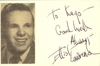 ELLIOT LAWRENCE - INSCRIBED SIGNATURE