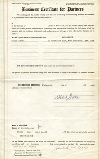 OSSIE DAVIS - DOCUMENT SIGNED 04/09/1962