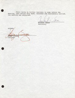 KENNY ROGERS - CORPORATE MINUTES PAGE SIGNED
