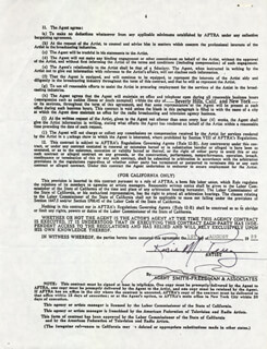 ROSIE M. PEREZ - DOCUMENT SIGNED 08/01/1989