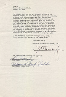 COTTONSEED CLARK - DOCUMENT SIGNED 01/22/1944 CO-SIGNED BY: LOU CROSBY
