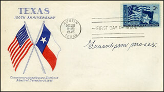 GRANDMA MOSES - FIRST DAY COVER SIGNED