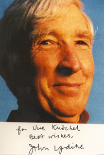 JOHN UPDIKE - AUTOGRAPHED INSCRIBED PHOTOGRAPH