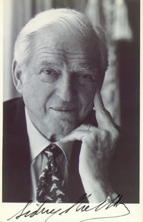 SIDNEY SHELDON - AUTOGRAPHED SIGNED PHOTOGRAPH