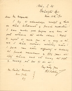 REAR ADMIRAL WINFIELD SCOTT SCHLEY - AUTOGRAPH LETTER SIGNED 03/10/1910