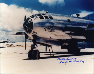 ENOLA GAY CREW (THEODORE VAN KIRK) - AUTOGRAPHED SIGNED PHOTOGRAPH