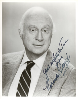 NORMAN LLOYD - AUTOGRAPHED INSCRIBED PHOTOGRAPH