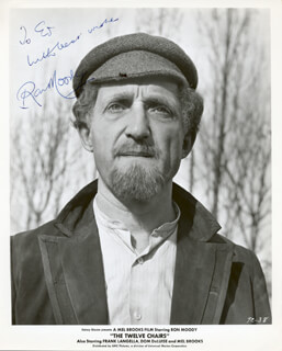RON MOODY - INSCRIBED PRINTED PHOTOGRAPH SIGNED IN INK