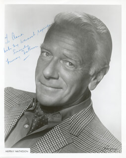 MURRAY MATHESON - AUTOGRAPHED INSCRIBED PHOTOGRAPH