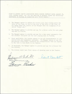 ELEANOR PARKER - DOCUMENT SIGNED 01/28/1970
