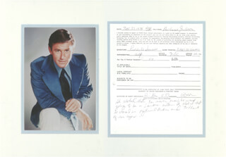 RODDY McDOWALL - DOCUMENT SIGNED 11/27/1978