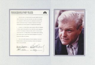 BRIAN DENNEHY - DOCUMENT SIGNED 02/22/1990