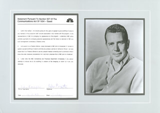JOHN FORSYTHE - DOCUMENT SIGNED 10/17/1990