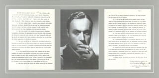 CHARLES BOYER - DOCUMENT SIGNED 10/06/1950